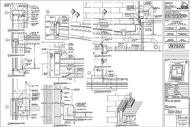 WALL SECTION STAIR DETAILS LIGHT MONITOR CURTAIN 2 WINDOW PRECAST SKETCH DETAIL