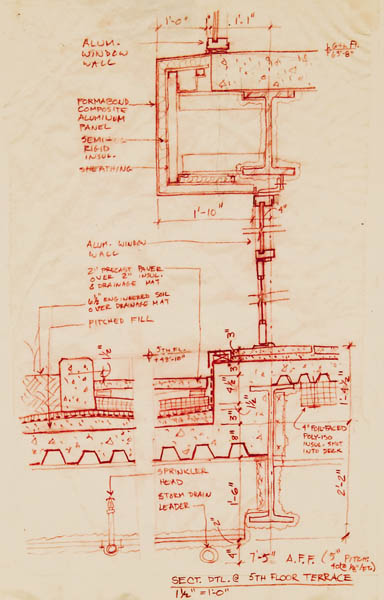 Architectural Details: Hand Drawn Wall Section
