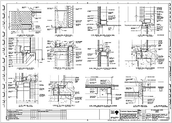 Curtain wall section